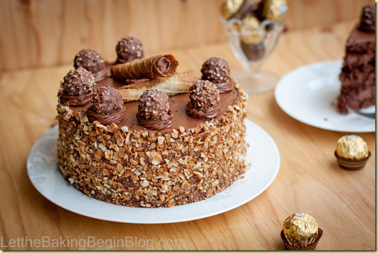 I NEED Ferrero Rocher Cake in my life.